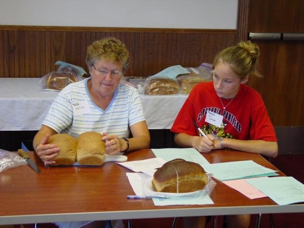 Judging Wheat Show Exhibits